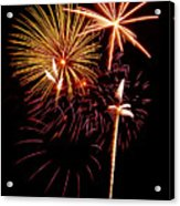 Fireworks 1 Acrylic Print by Michael Peychich