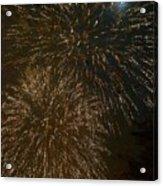 Fireworks 4 With Moon Acrylic Print