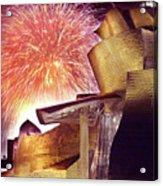 Fireworks At Guggenheim Acrylic Print