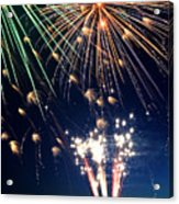 Fireworks At Maple Creek Acrylic Print