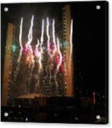 Fireworks At Toronto City Hall Acrylic Print