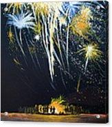 Fireworks Bonfire On The West Bar Acrylic Print
