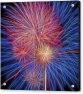 Fireworks Celebration Glow Square Acrylic Print