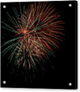 Fireworks Acrylic Print by Christopher Holmes