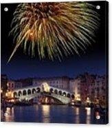 Fireworks Display, Venice Acrylic Print