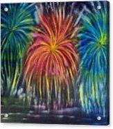 Fireworks Explode Acrylic Print