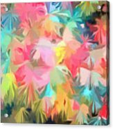 Fireworks Floral Abstract Square Acrylic Print