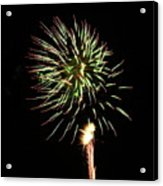 Fireworks From A Boat - 8 Acrylic Print by Jeffrey Peterson