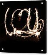 Fireworks Fun Acrylic Print by Richard Mitchell