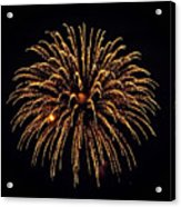 Fireworks - Gold Dust Acrylic Print