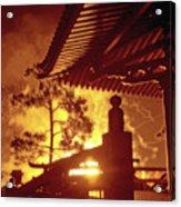Fireworks, Japan Pavilion, Epcot, Walt Disney World Acrylic Print