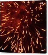 Fireworks Light Up The Sky While Celebrating Bastille Day Acrylic Print by Sami Sarkis