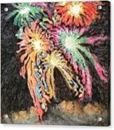 Fireworks Man Acrylic Print