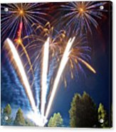 Fireworks No.2 Acrylic Print by Niels Nielsen
