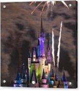 Fireworks Over Disney Castle Acrylic Print