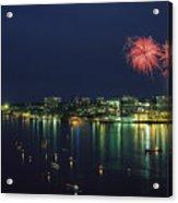 Fireworks Over Halifax Harbor Celebrate Acrylic Print