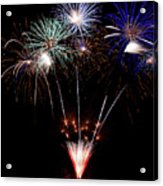 Fireworks Over Lake #14 Acrylic Print