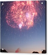 Fireworks Over Lincoln Acrylic Print