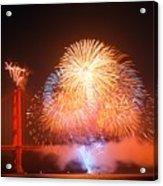 Fireworks Over The Golden Gate Bridge Acrylic Print