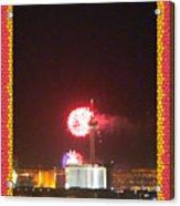 Fireworks Over The Las Vegas Strip Acrylic Print
