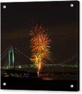 Fireworks Over The Verrazano Narrows Bridge Acrylic Print