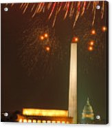 Fireworks Over Washington Dc Mall Acrylic Print