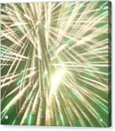 Fireworks Acrylic Print by Ronald Britton