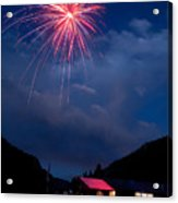 Fireworks Show In The Mountains Acrylic Print