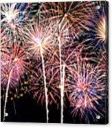 Fireworks Spectacular Acrylic Print by Ricky Barnard