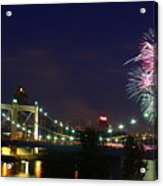 Fireworks Acrylic Print by Tracy Reese