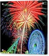 Fireworks-wildwood Nj Boardwalk Acrylic Print