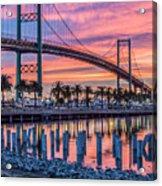 Firey Sunrise Vertical Waterfront Acrylic Print