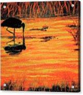 Firey Water Acrylic Print
