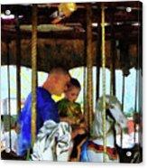 First Carousel Ride Acrylic Print
