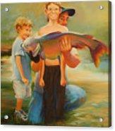 First Catch Acrylic Print