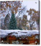 First Colorful Autumn Snow Acrylic Print