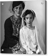 First Communion And Mom Acrylic Print