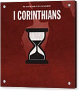 First Corinthians Books Of The Bible Series New Testament Minimal Poster Art Number 07 Acrylic Print