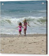 First Day At Beach Acrylic Print