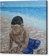 First Day At The Beach Acrylic Print