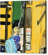 First Day Bus Ride Acrylic Print