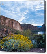 First Day Of Spring - Canyon Lake Acrylic Print
