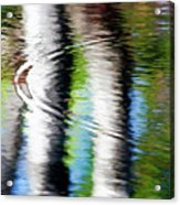 First Drop Water Reflection Acrylic Print