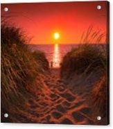 First Encouter Beach Sunset September 2017 Acrylic Print