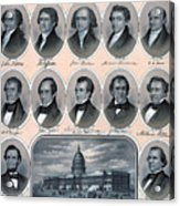 First Hundred Years Of American Presidents Acrylic Print