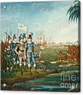 First Landing Of Christopher Columbus Acrylic Print