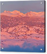 First Light Colorado Rocky Mountains Panorama Acrylic Print