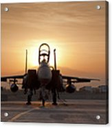 First Light On A Fighter Acrylic Print