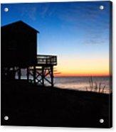 First Light On Beach Road, Falmouth Acrylic Print