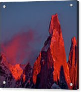 First Light On Cerro Torre - Patagonia Acrylic Print